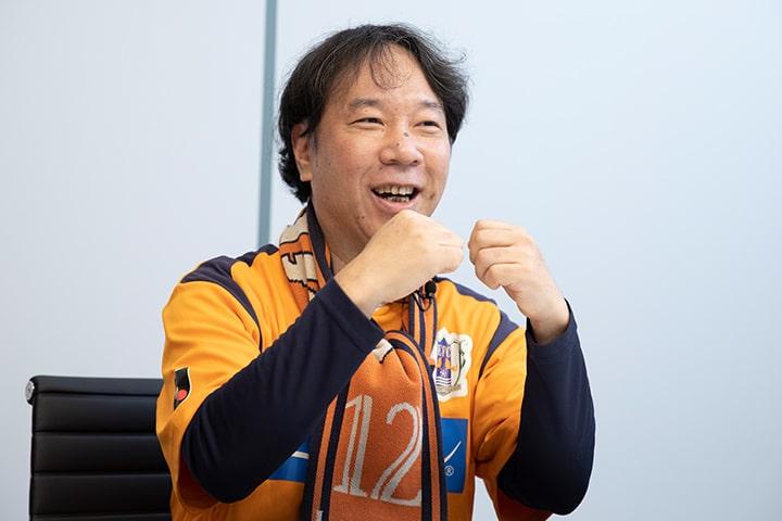 愛媛FCレディースサポーターズクラブ代表 松本 晋司さん