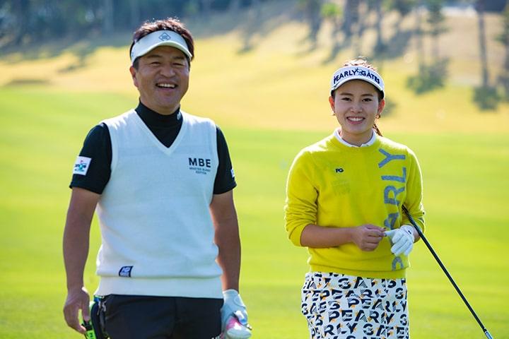 佐保重女里選手とゴルフスタジオチェンジ オーナー 白石泰祥さん